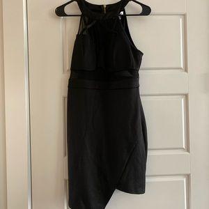 Emerald Sundae || black asymmetrical dress